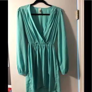 Francesca's Collections Dresses - Francesca Long Sleeve Faux Wrap Dress